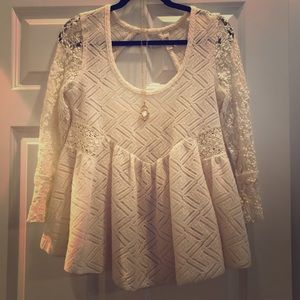 Free People lace sweater